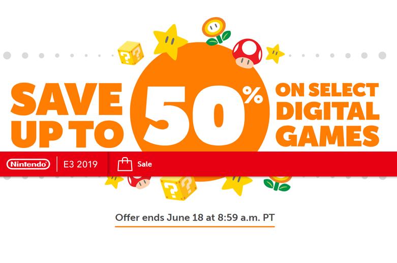 โปรโมชั่น E3 2019 Nintendo Sale ลดสูงสุด 50%